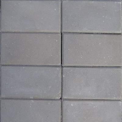 Halve betontegels 15x30x4,5cm grijs