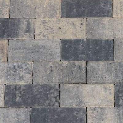 Halve betonklinker 10,5x10,5x6cm grijs zwart