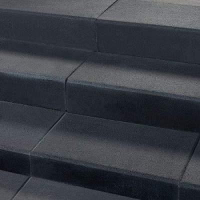 Traptrede met facet 60x30x15cm industry black