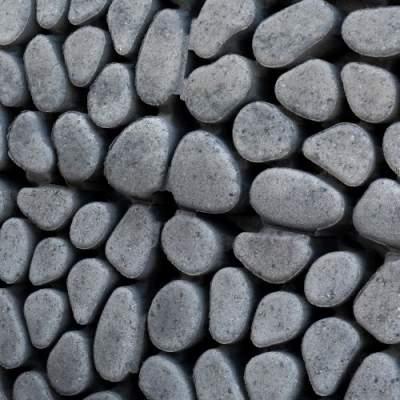 Keigrassteen 45x45x10cm grijs zwart