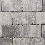 Trommelsteen 21x14x7cm grijs zwart