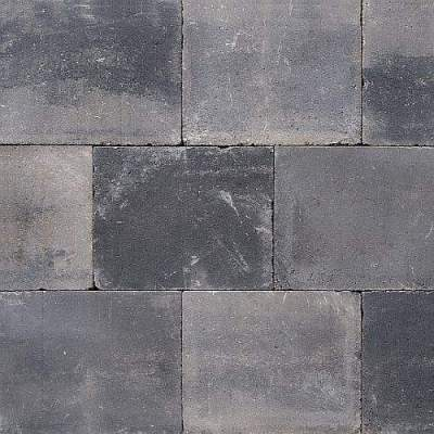 Terrastegels 20x20x6cm grijs zwart