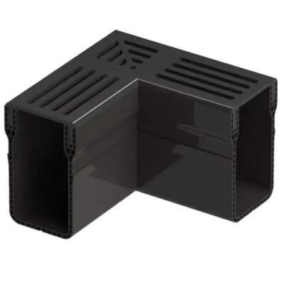 Aquadrain 6,5cm corner black grating