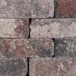 Splitrocks getrommeld 11x13x32cm tricolore