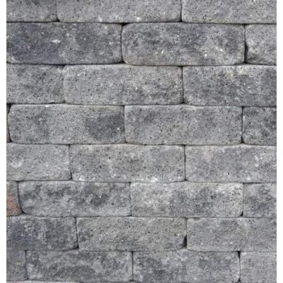 Splitrocks getrommeld 11x13x32cm grijs zwart
