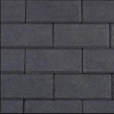 Halve betonklinker 10,5x10,5x8cm antraciet